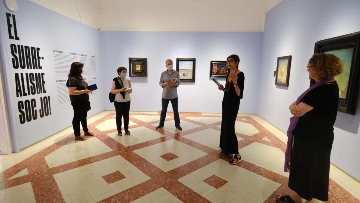 Un moment de la presentació de l'exposició