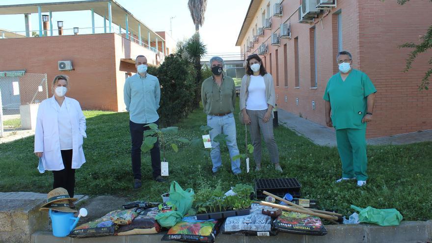 La residencia de Arroyo de la Luz pone en marcha un huerto terapéutico