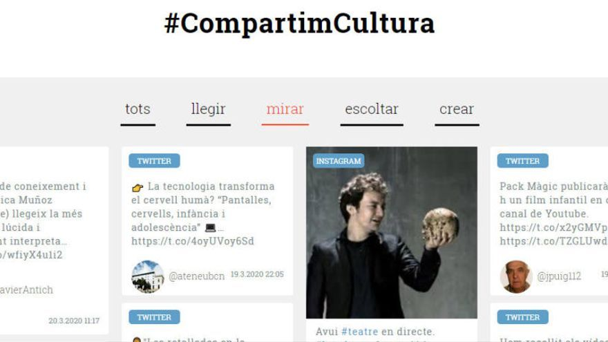 Òmnium aglutina en un web iniciatives culturals en català sorgides en el confinament