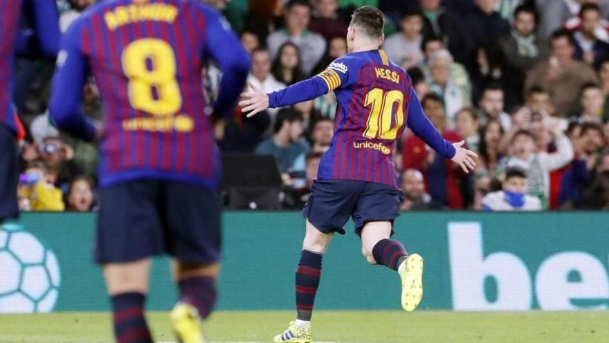 Leo Messi deixa el Barça     a tocar del títol de Lliga