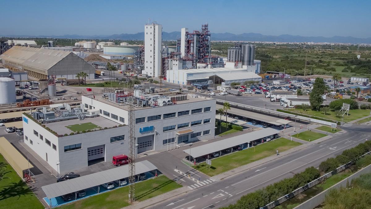 Instalaciones de UBE industries ubicadas en la provincia de Castellón.