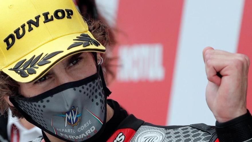 Manzi y MV Agusta, primera 'pole position' en Moto2