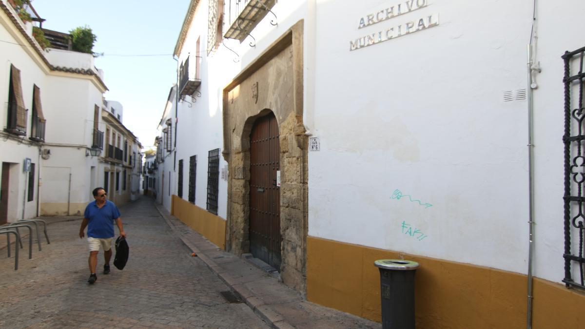 Imagen del Archivo Municipal antes de las obras de remodelación.