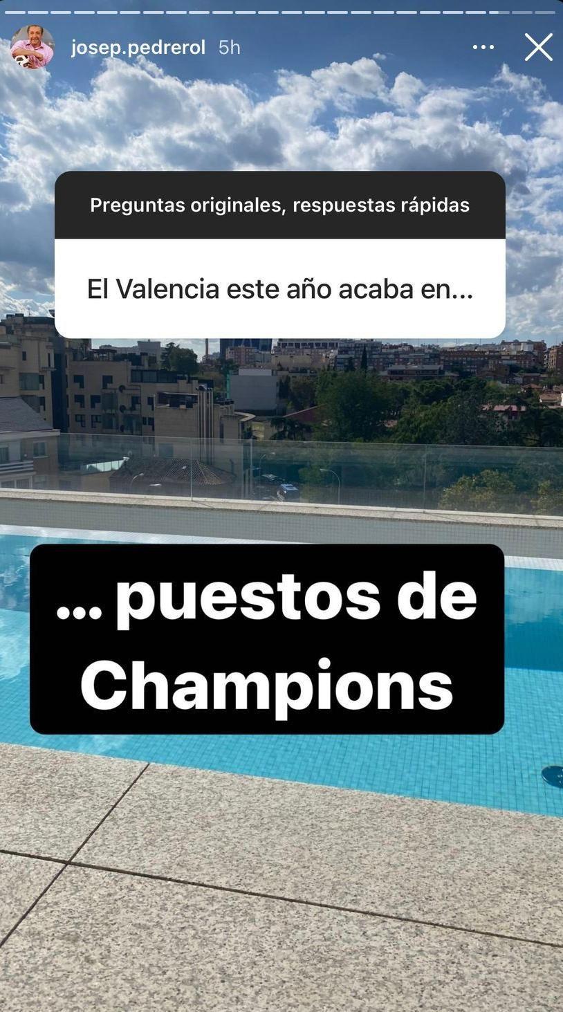 Pedrerol, sobre el futuro del Valencia CF
