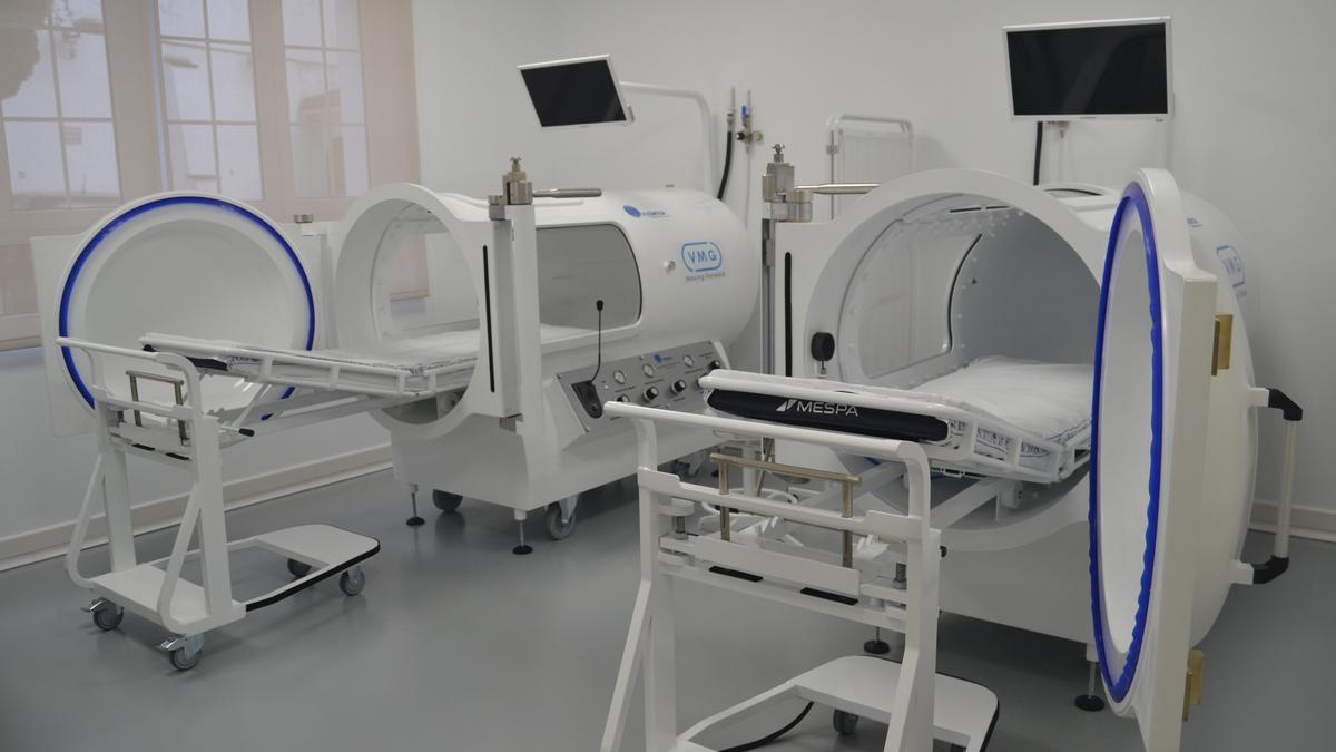 Cámaras hiperbáricas monoplaza en un ambiente relajado en el Hospital San Juan de Dios