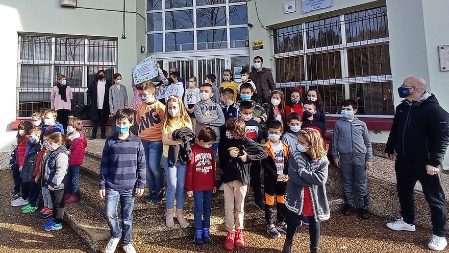 Los escolares de Villamayor suman su esfuerzo al Banco de Alimentos