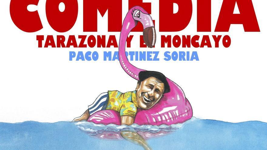 'Tiburón' acechando a Paco Martínez Soria, cartel de la XVIII edición del Festival de Cine de Tarazona