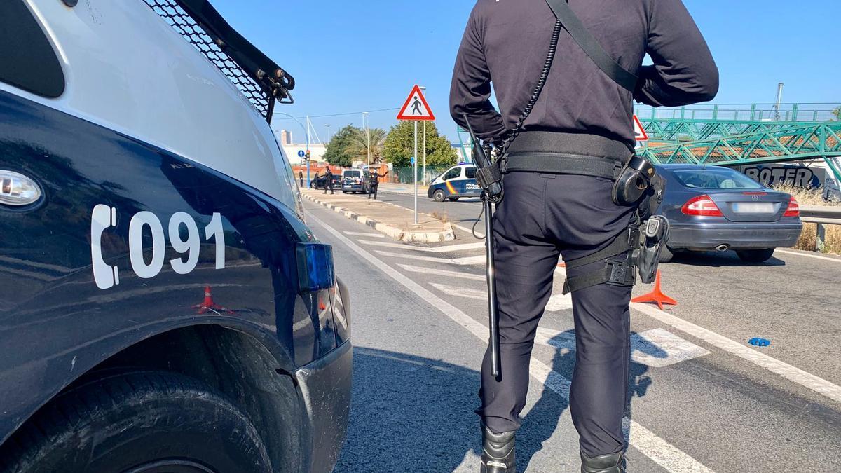 Control policial en la ciudad de Alicante