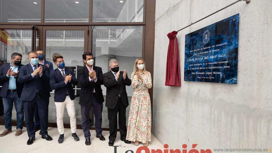 Inauguración del pabellón deportivo en Cehegín