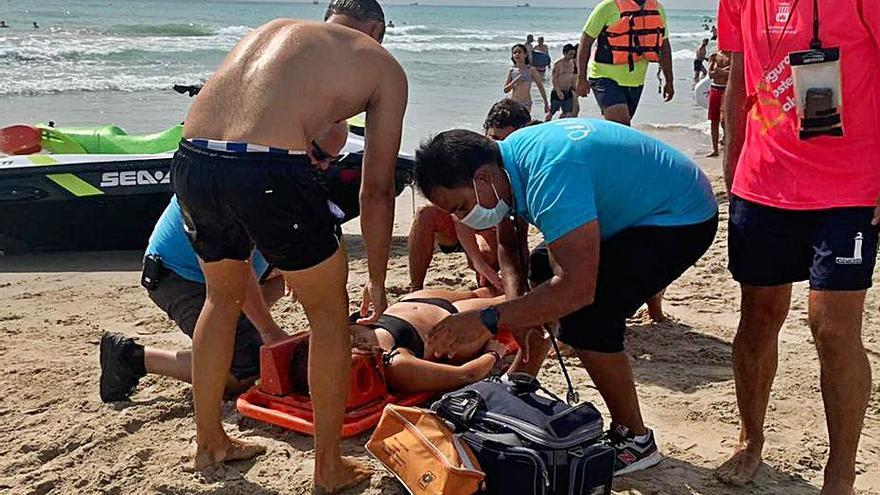 Éxito en el simulacro de rescate en Canet