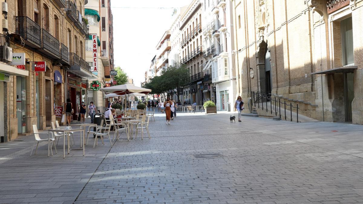Las calles de Huesca, esta tarde.