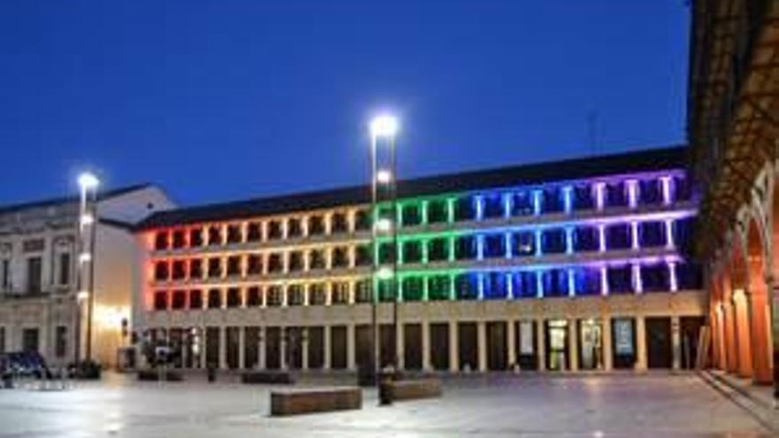 Espectáculo de luz y sonido en el centro de UCOCultura en La Corredera