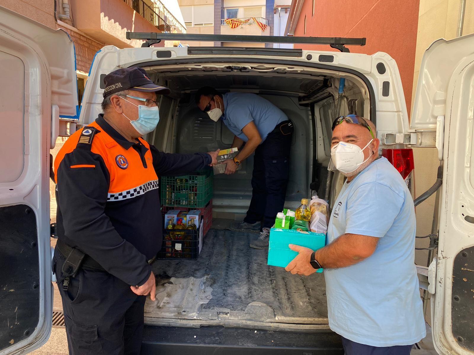 Donación de alimentos en El Campello