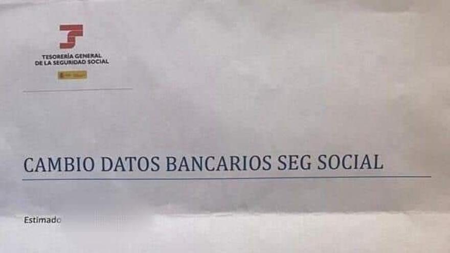 La carta de la Seguridad Social que es una estafa