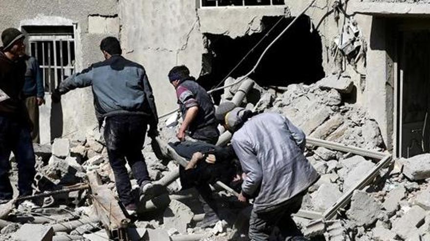 Mueren nueve miembros de una misma familia en un bombardeo sobre Ghuta