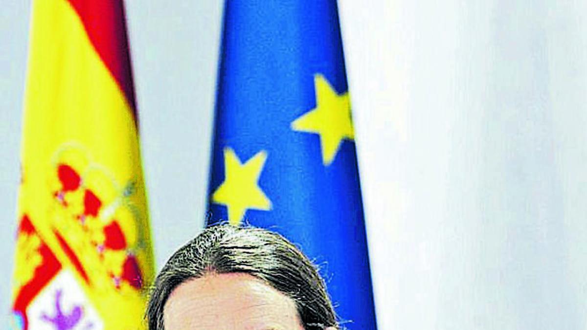 Pablo Iglesias, ayer, tras el Consejo de Ministros.