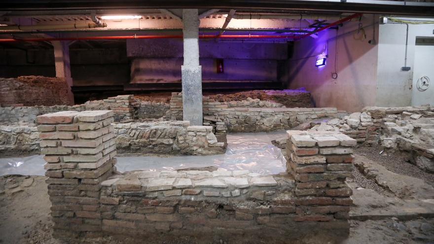 Obras para proteger del agua los restos romanos del Thyssen