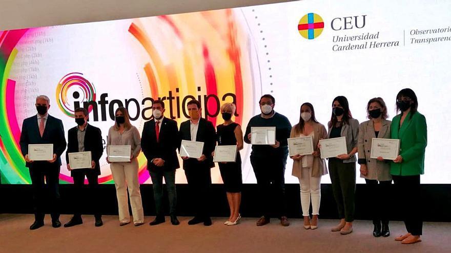 Dénia recibe un premio por su apuesta por la transparencia