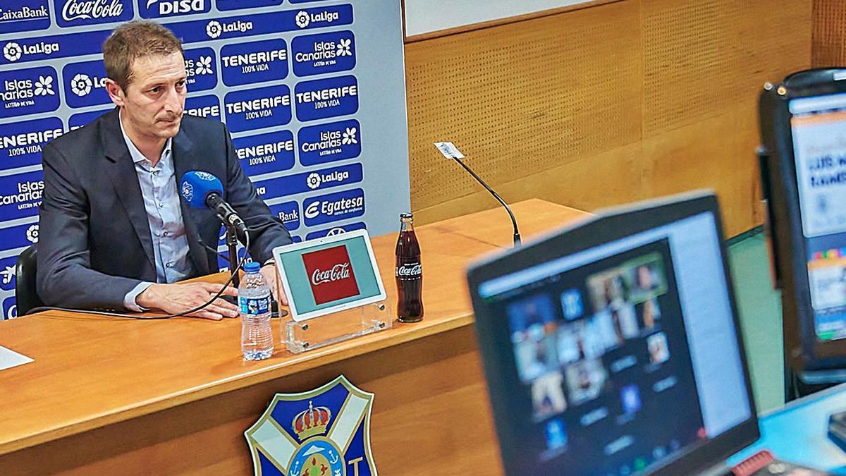 Luis Miguel Ramis, durante su rueda de prensa telemática de presentación. | | CDT