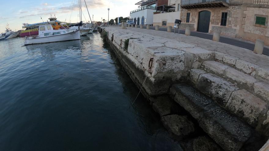 El muelle antiguo de Portocolom, amenazado por obras del Govern