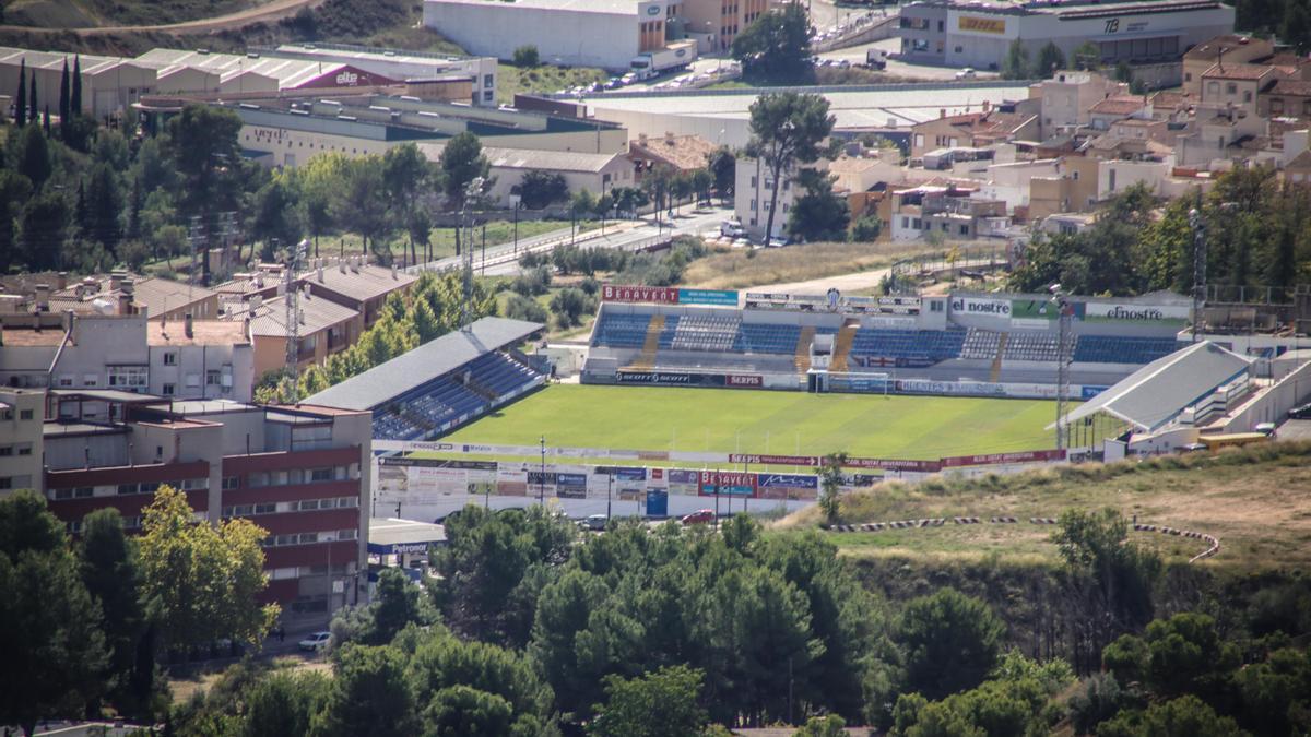 Vista general del campo de fútbol 'El Collao', en Alcoy.