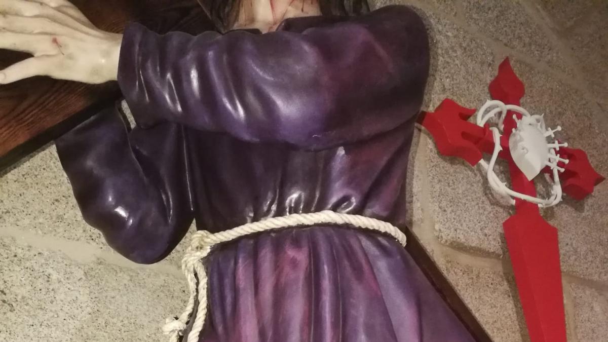 El Cristo de las batallas sufre serios daños en Santa María