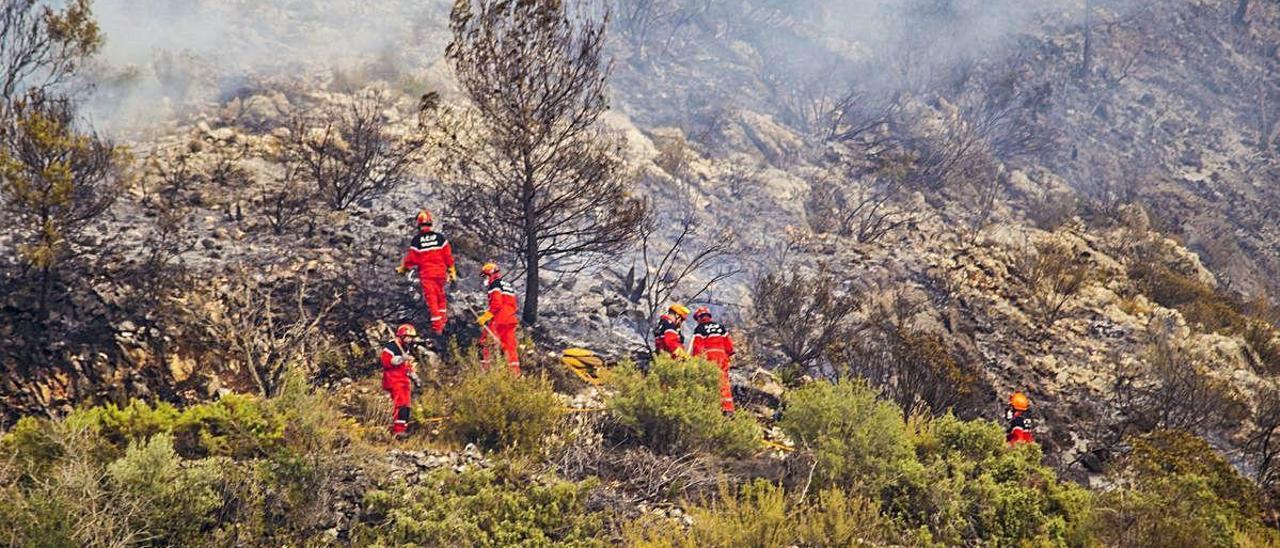 Imagen del incendio de Pinet de 2018, cuya prevención forma parte del Plan de Acción Territorial.
