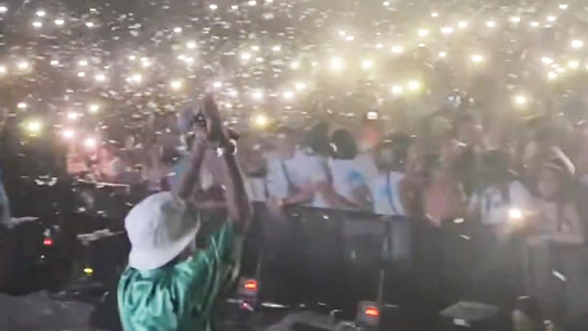 Una imagen de la fiesta multitudinaria en Palma.