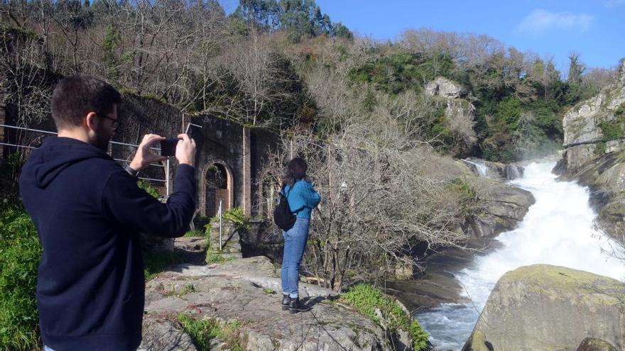 Las 'fervenzas' de Pontevedra se muestran con todo su esplendor tras las lluvias