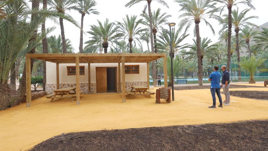 El Palmeral de Orihuela estrena un centro de acogida al visitante con zona de picnic