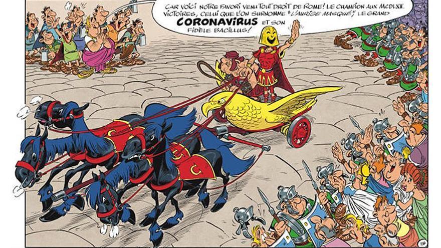 Astérix, y no los Simpson, ya predijo el coronavirus en 2017