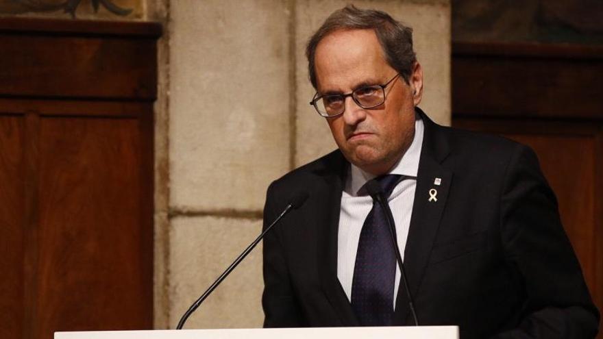 El Supremo decide hoy si suspende el cese de Torra como diputado