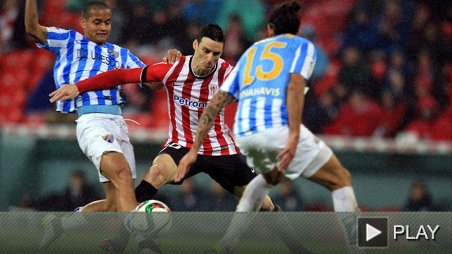 El Athletic elimina al Málaga y se cuela en semifinales de Copa