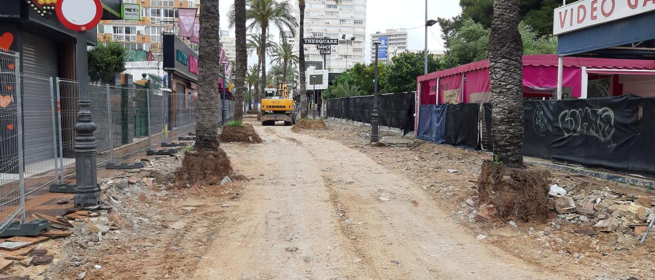 Obras en la 'zona guiri' de Benidorm