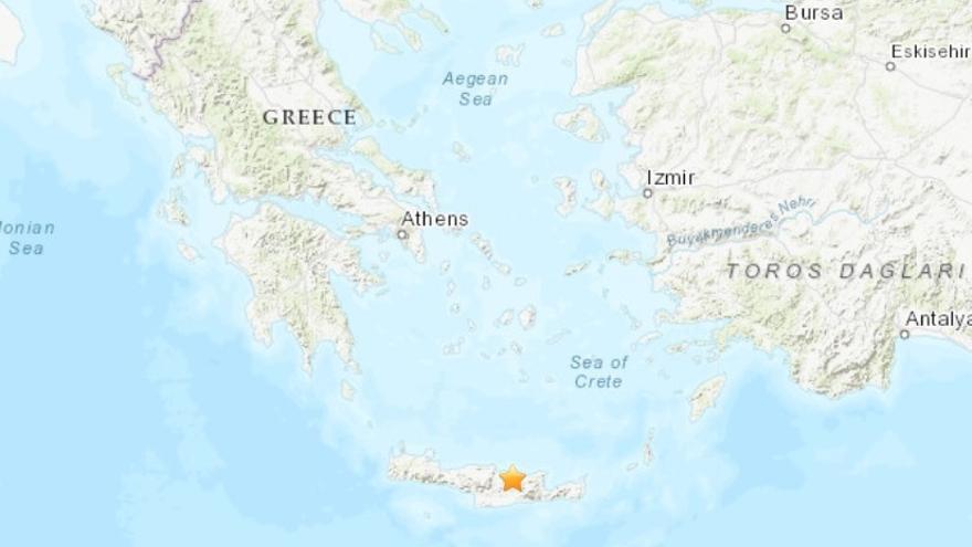 Un muerto por el terremoto de magnitud 5,8 en la isla griega de Creta