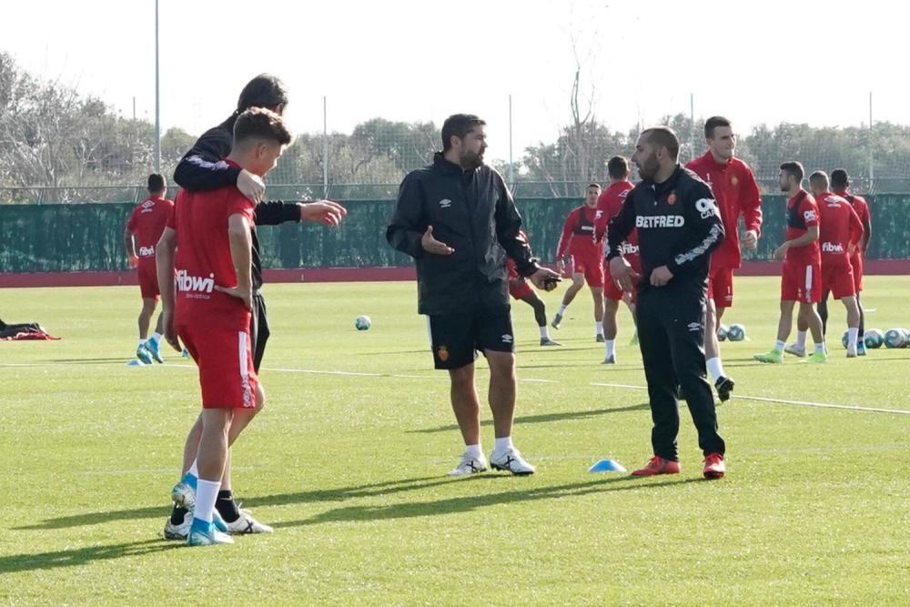 Primer entrenamiento de Pozo con el Mallorca