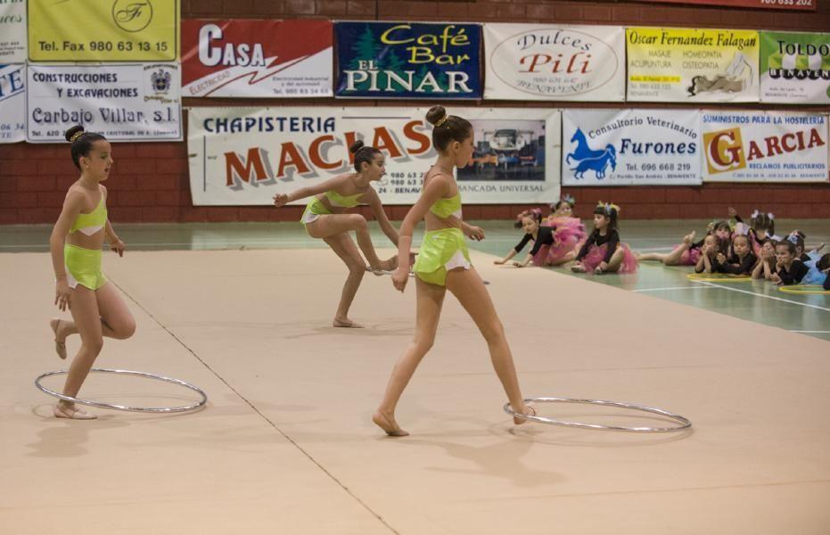 Exhibición de la Escuela de gimnasia rítmica