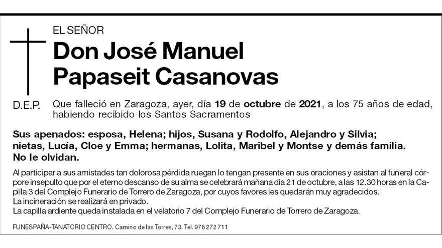 José Manuel Papaseit Casanovas