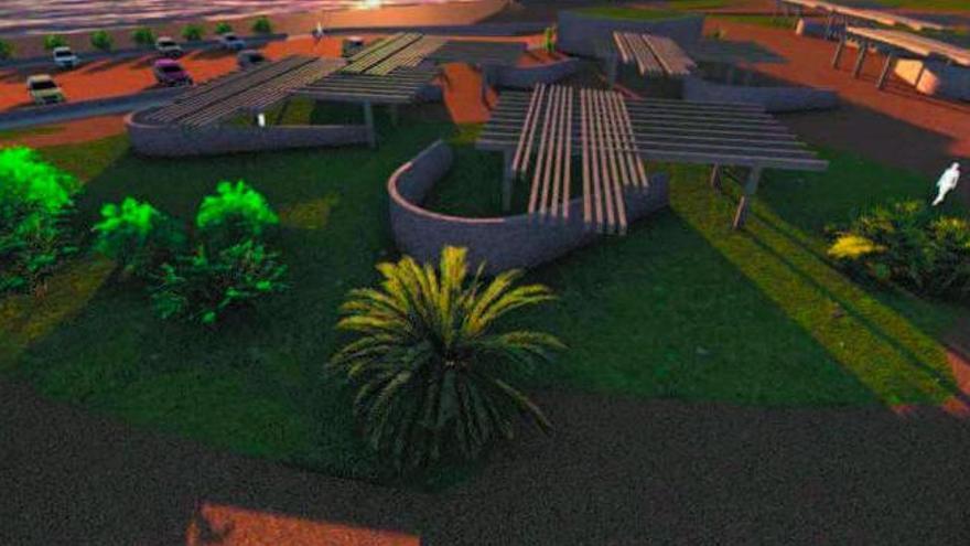 Bahía de Formas tendrá merenderos y espacio para las escuelas de windsurf