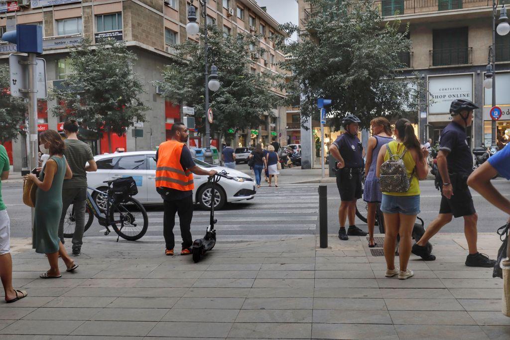 Varias niñas atropelladas por un coche en la calle Jaume III de Palma