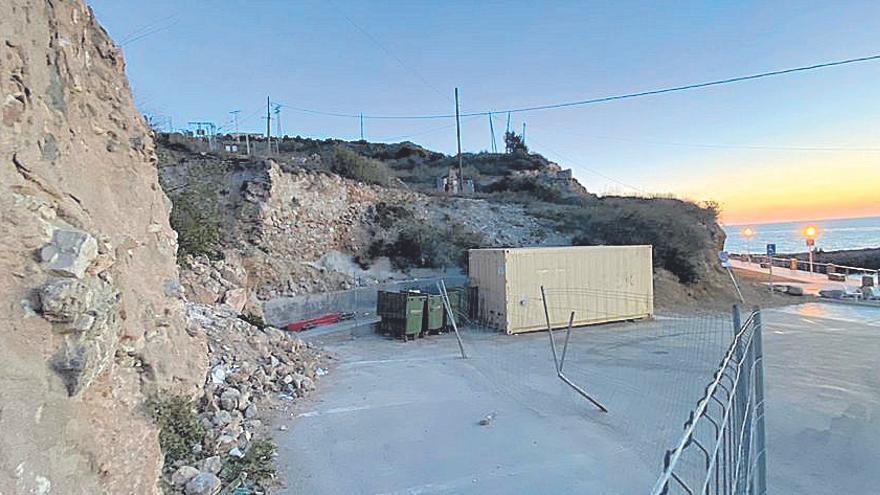 Rehabilitarán el muro de contención de Cala Cortina