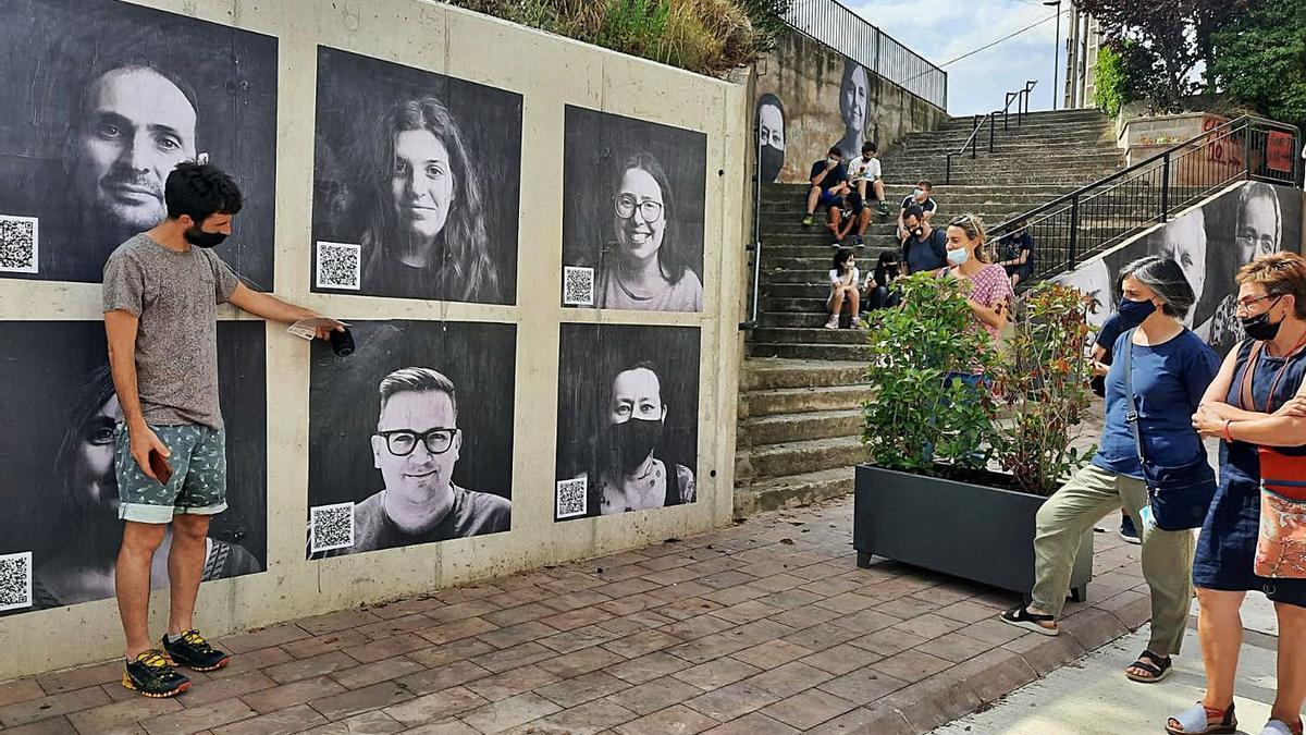 Intervenció «Superant murs», a càrrec dels alumnes de 2n d'ESO i el fotògraf Oriol Segon   QUERALT CASALS