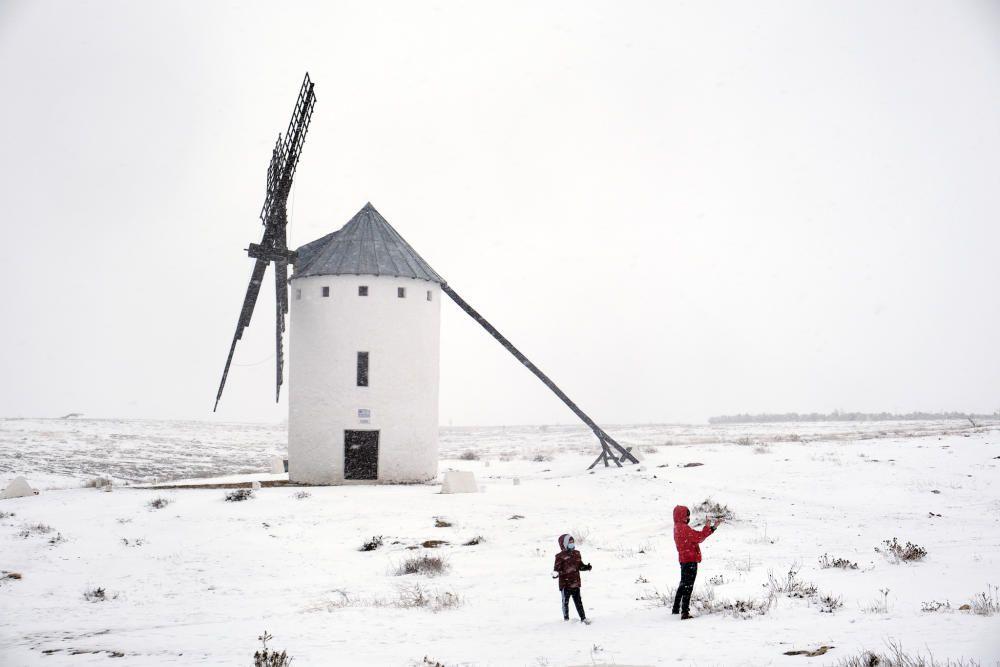 Schnee auf dem spanischen Festland