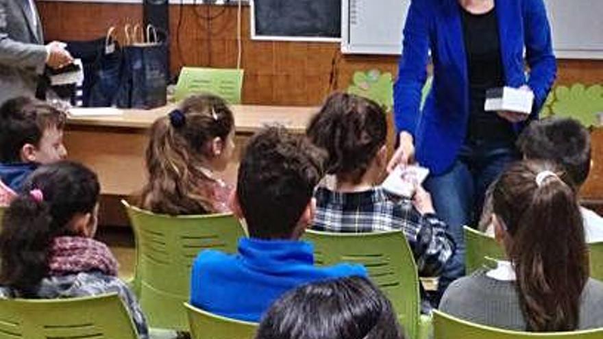 San Damián con los alumnos de Tábara