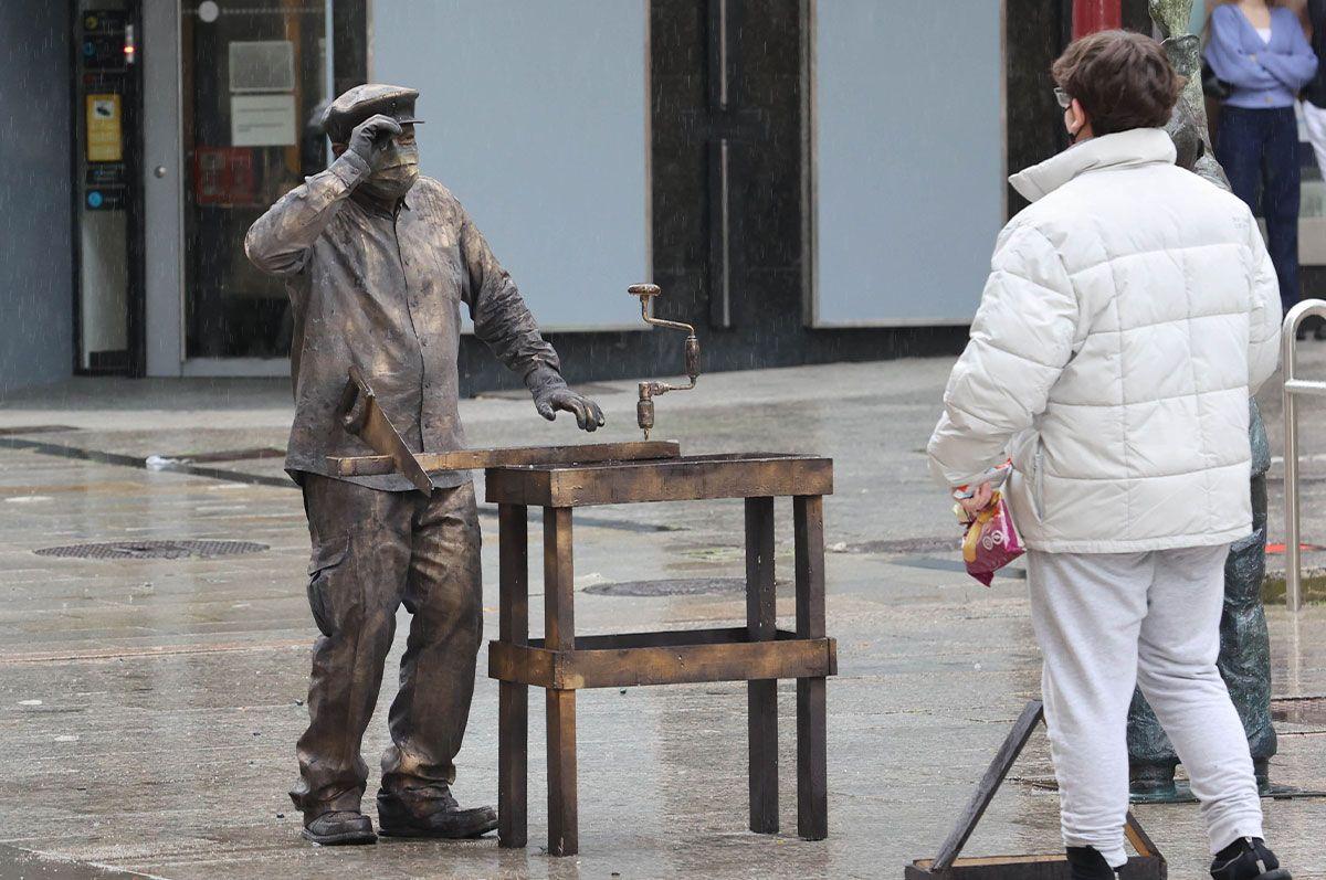El mimo brasileño enamorado de Vigo que busca el récord Guinness