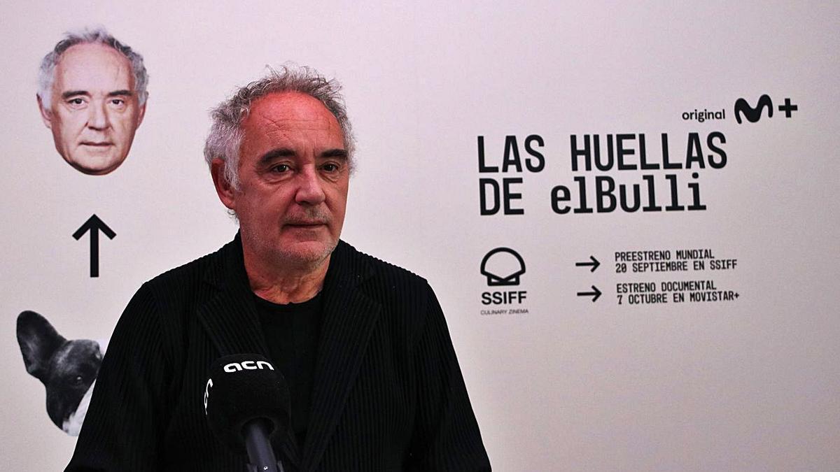 El xef Ferran Adrià va ser protagonista ahir de la jornada del festival de Sant Sebastià.   ACN