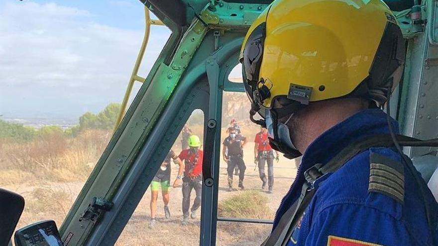 Rescatan a un ciclista de 51 años herido tras sufrir una caída en Murcia