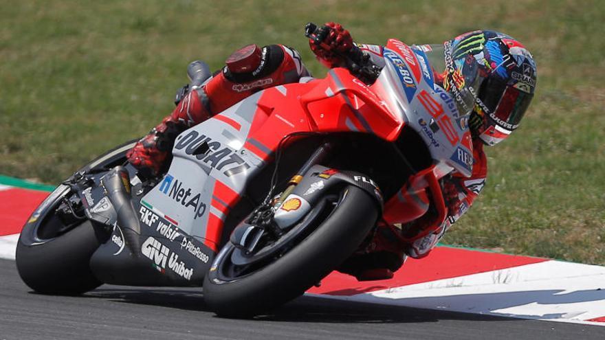 Jorge Lorenzo consigue su primera 'pole' con Ducati