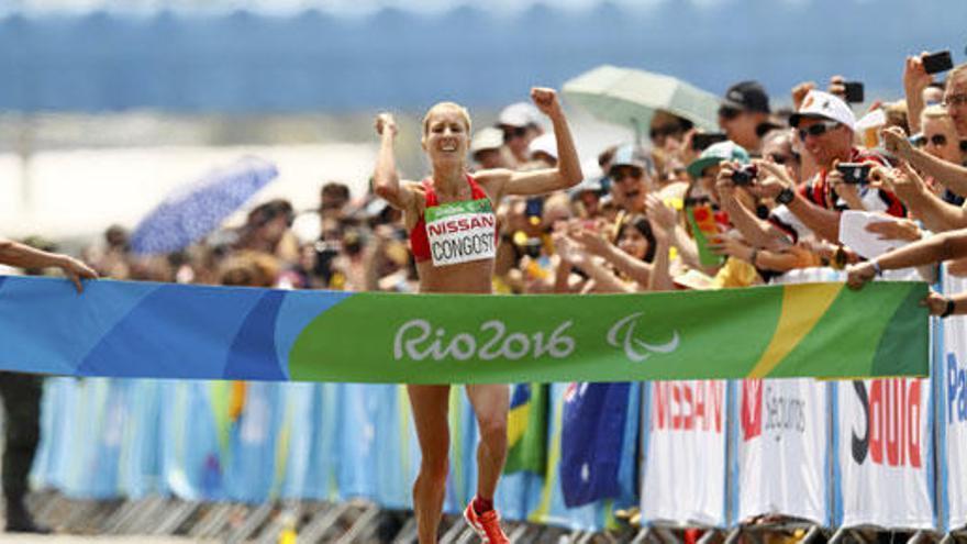 Elena Congost, oro en el maratón paralímpico en T12