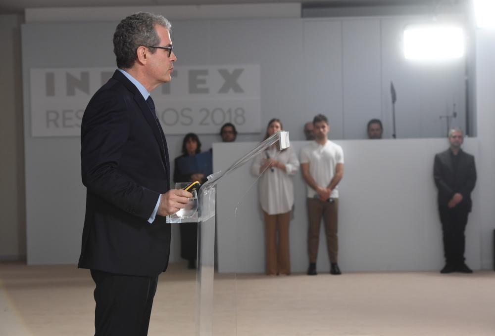 Pablo Isla presenta los Resultados Inditex 2018